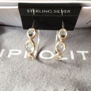 Ippolita Rock Candy SS 925 Clear Quartz Earrings